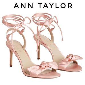 NWB Ann Taylor Josette Lace Bow Sandal Angel Pink